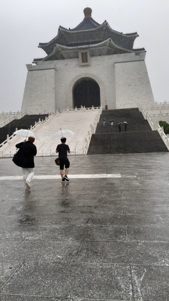 Rainy afternoon at Chiang Kai Shek Memorial Museum